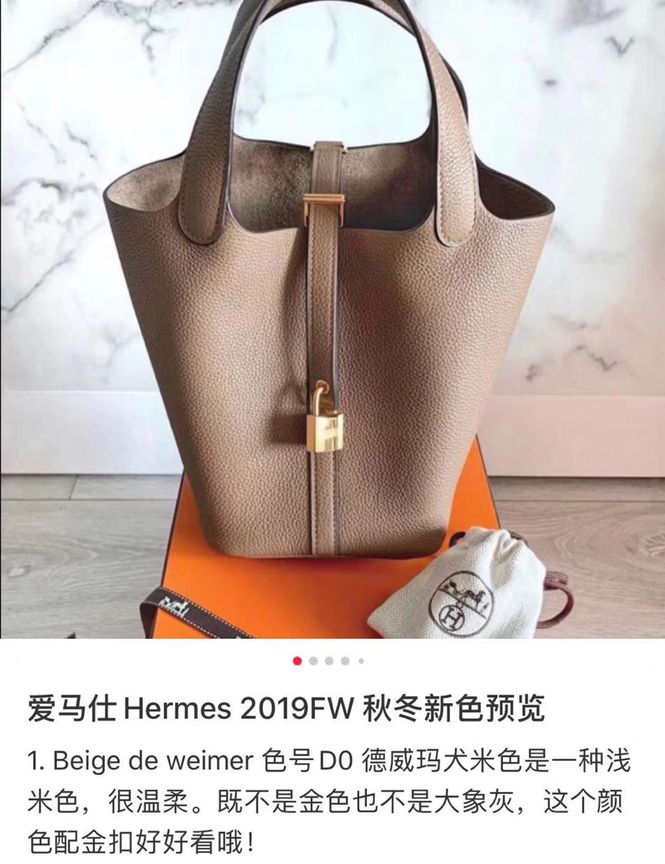 Customize Hermes Bags 2019 Winter New Color-Beige de Weimer Togo Leather