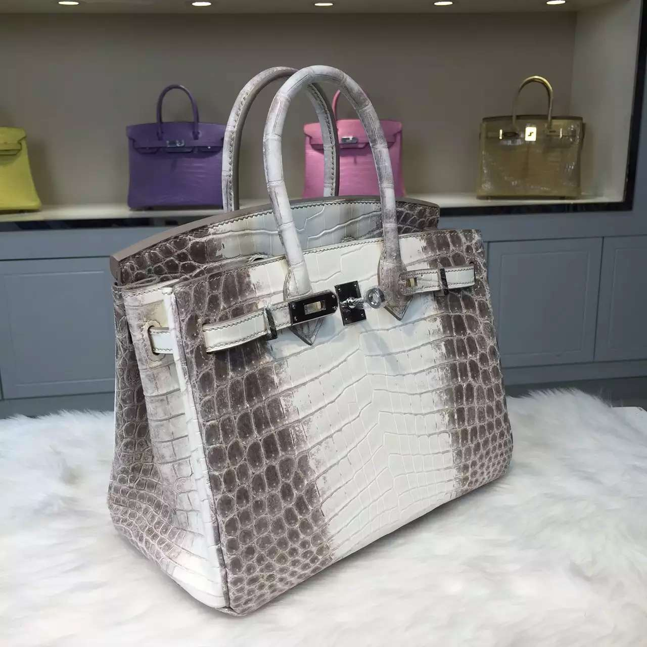 Elegant Hermes Himalaya Crocodile Skin Birkin Bag 25CM Luxury Women's Tote Bag