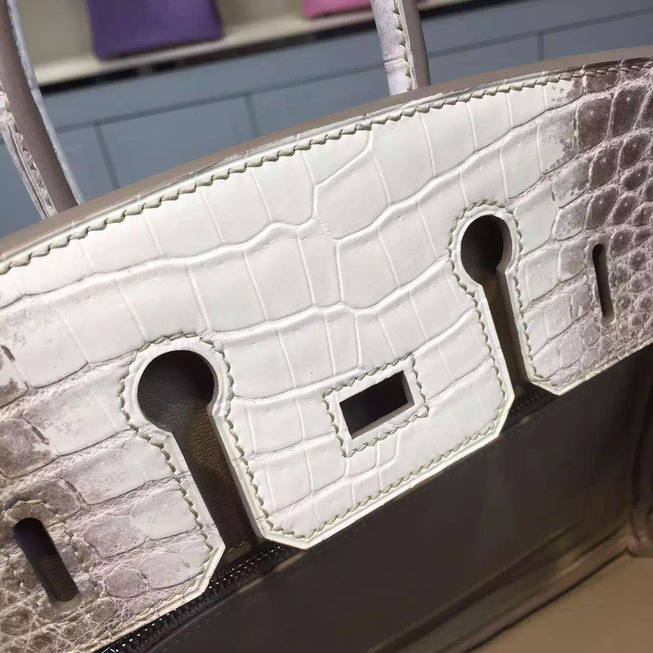 Elegant Hermes Himalaya Crocodile Skin Birkin Bag 25CM Luxury Women's Tote Bag