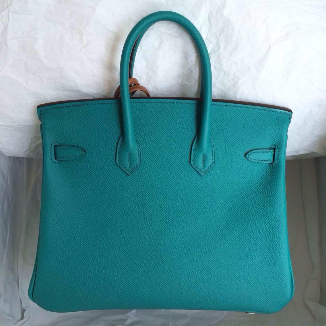 Hand Stitching 7F Lagon Color France Epsom Calf Leather Birkin30cm
