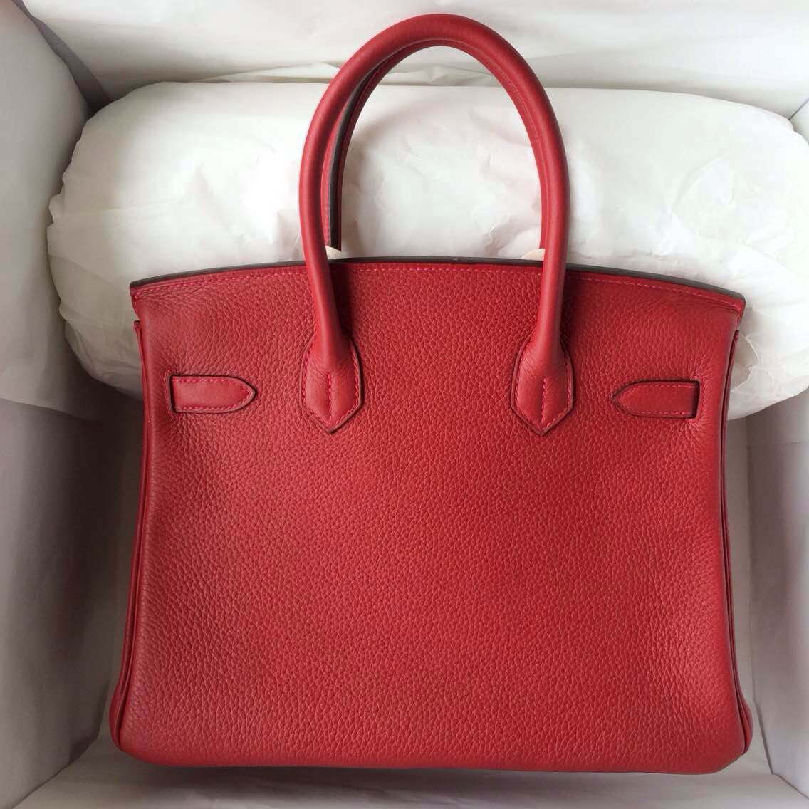 Q5 Candy Red Togo Leather Hermes Birkin30 Gold/Silver Hardware