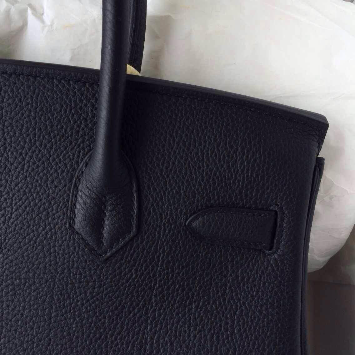 89 Black France Togo Leather Hermes Birkin30cm Gold/Silver Hardware