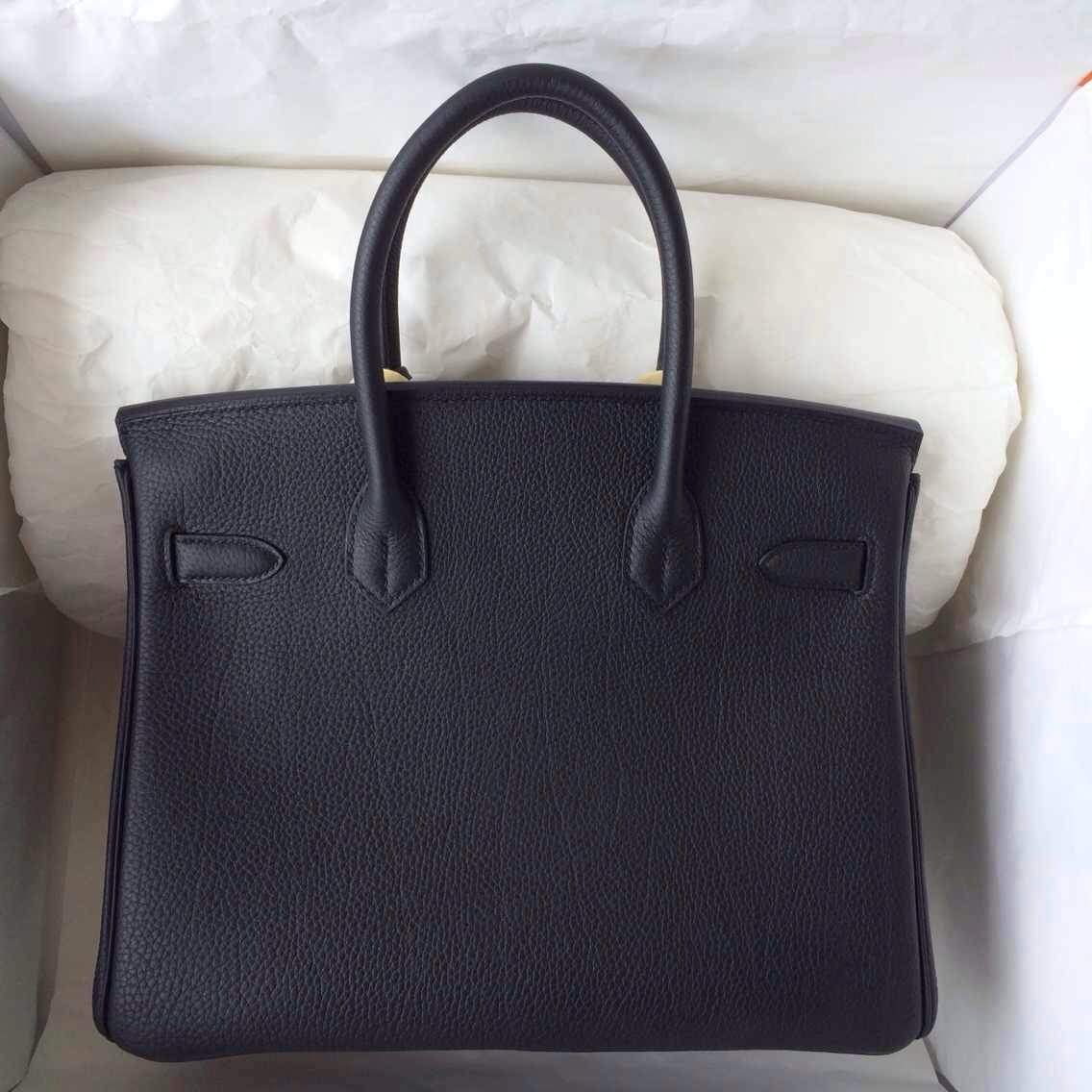 89 Black France Togo Leather Hermes Birkin30cm Gold/Silver Hardware