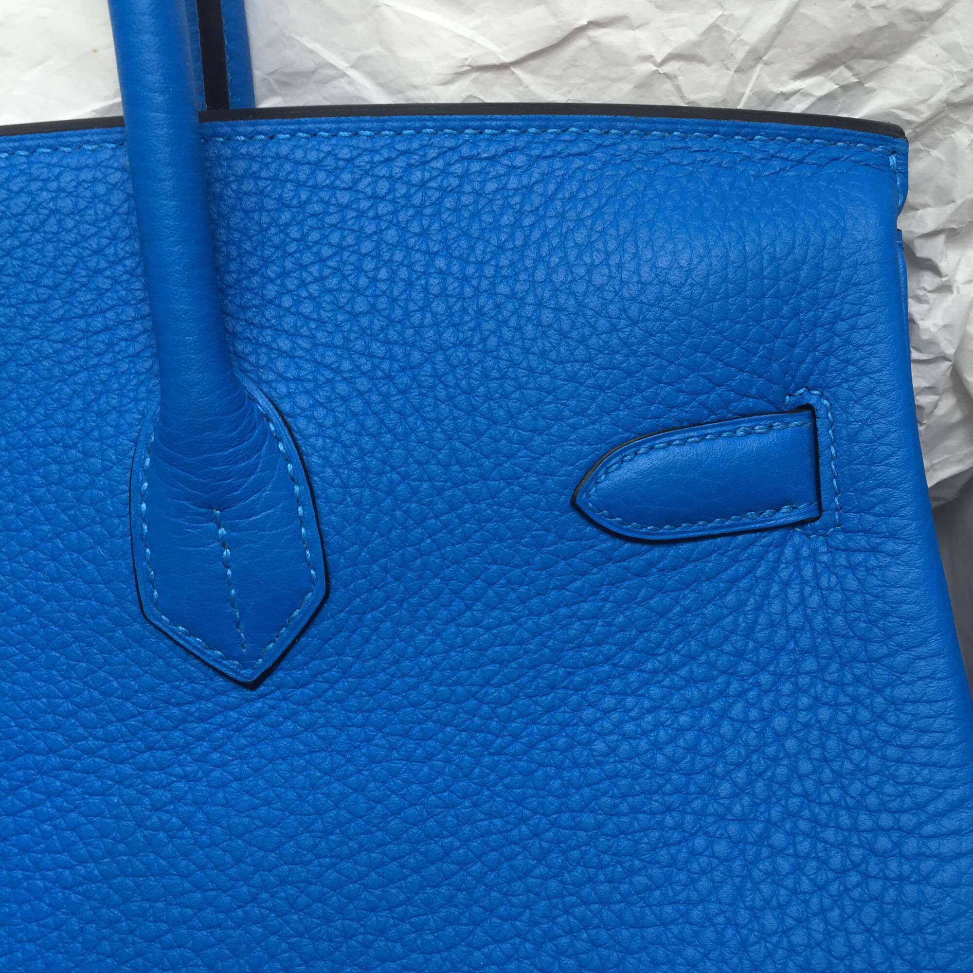New Fashion Blue Hydra France Togo Leather Hermes Birkin Bag 35cm