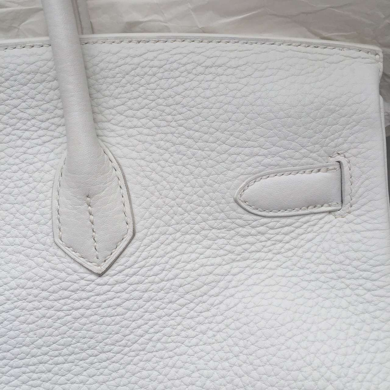Wholesale White Togo Leather Hermes Birkin 35CM Luxury Ladies' Handbag