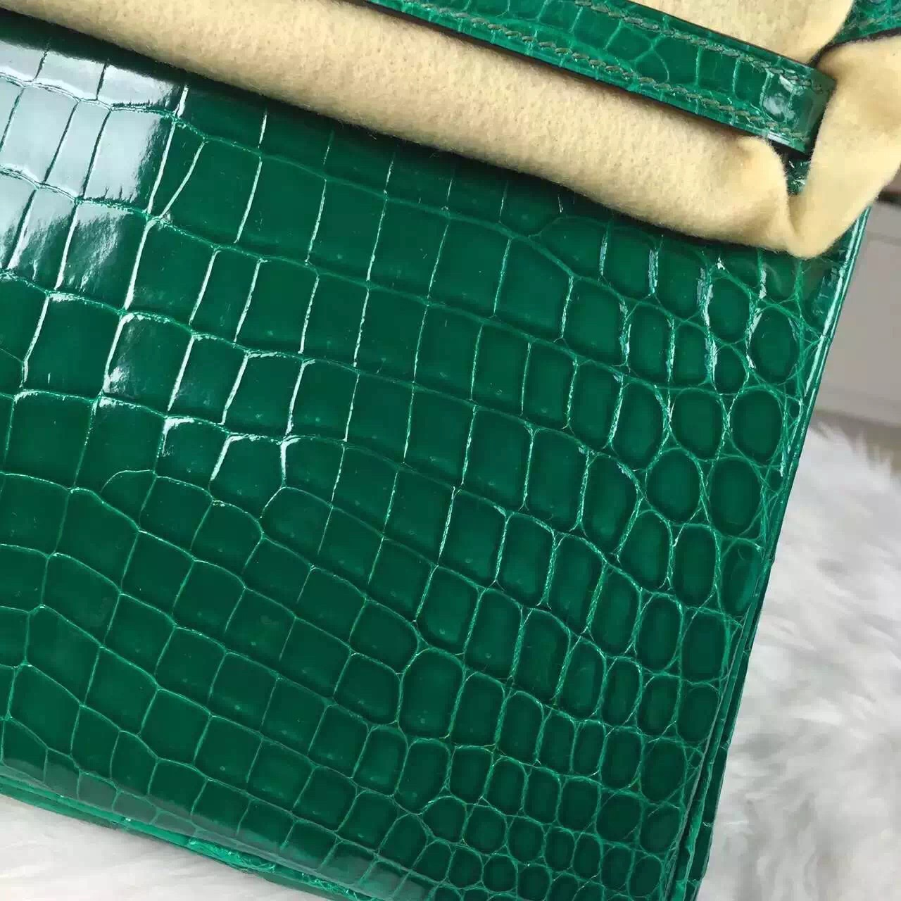 Wholesale Hermes Birkin Bag25cm Emerald Green HCP Crocodile Leather Women's Tote Bag