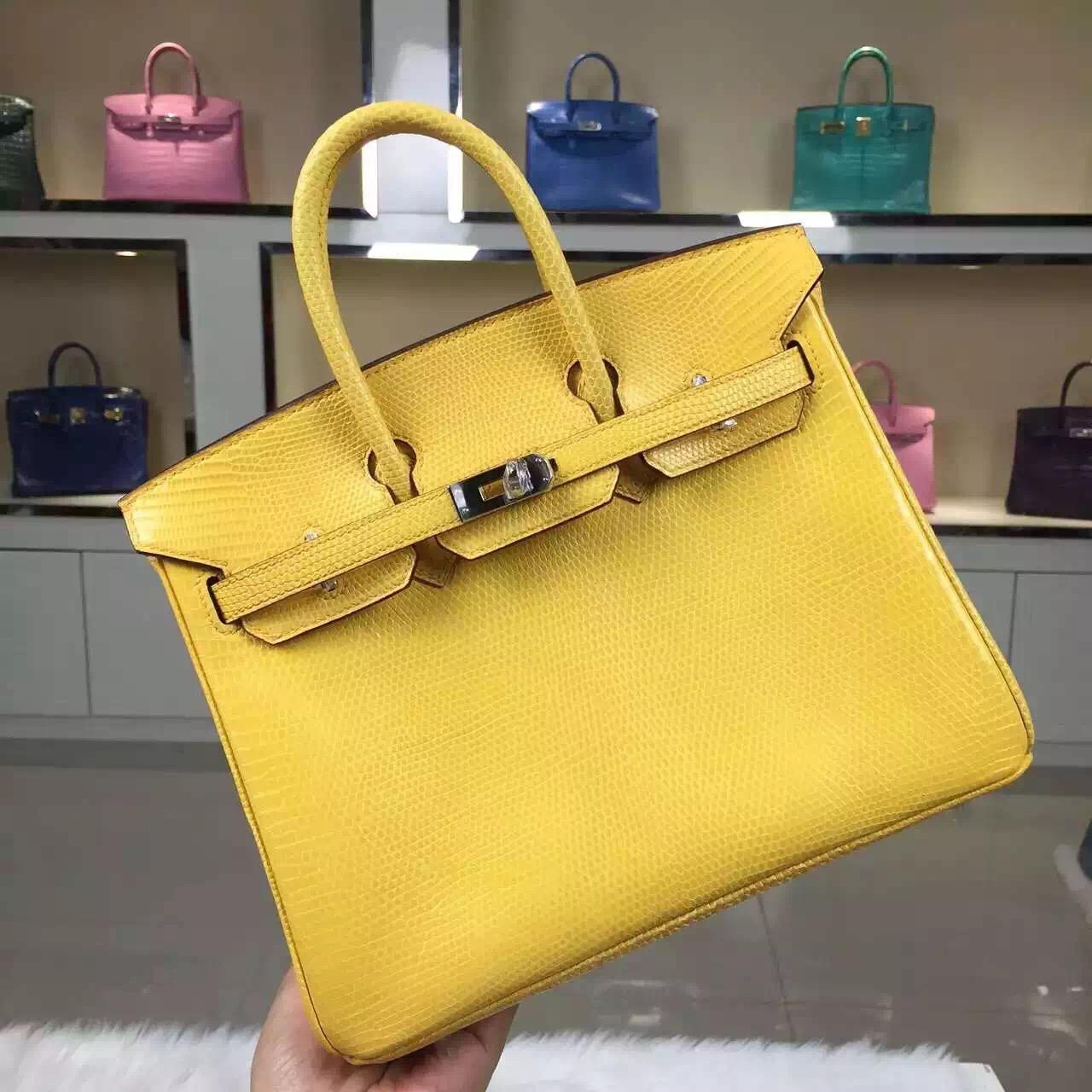 New Fashion Hermes 1Z Jaine Poessin Lizard Skin Birkin Bag25cm