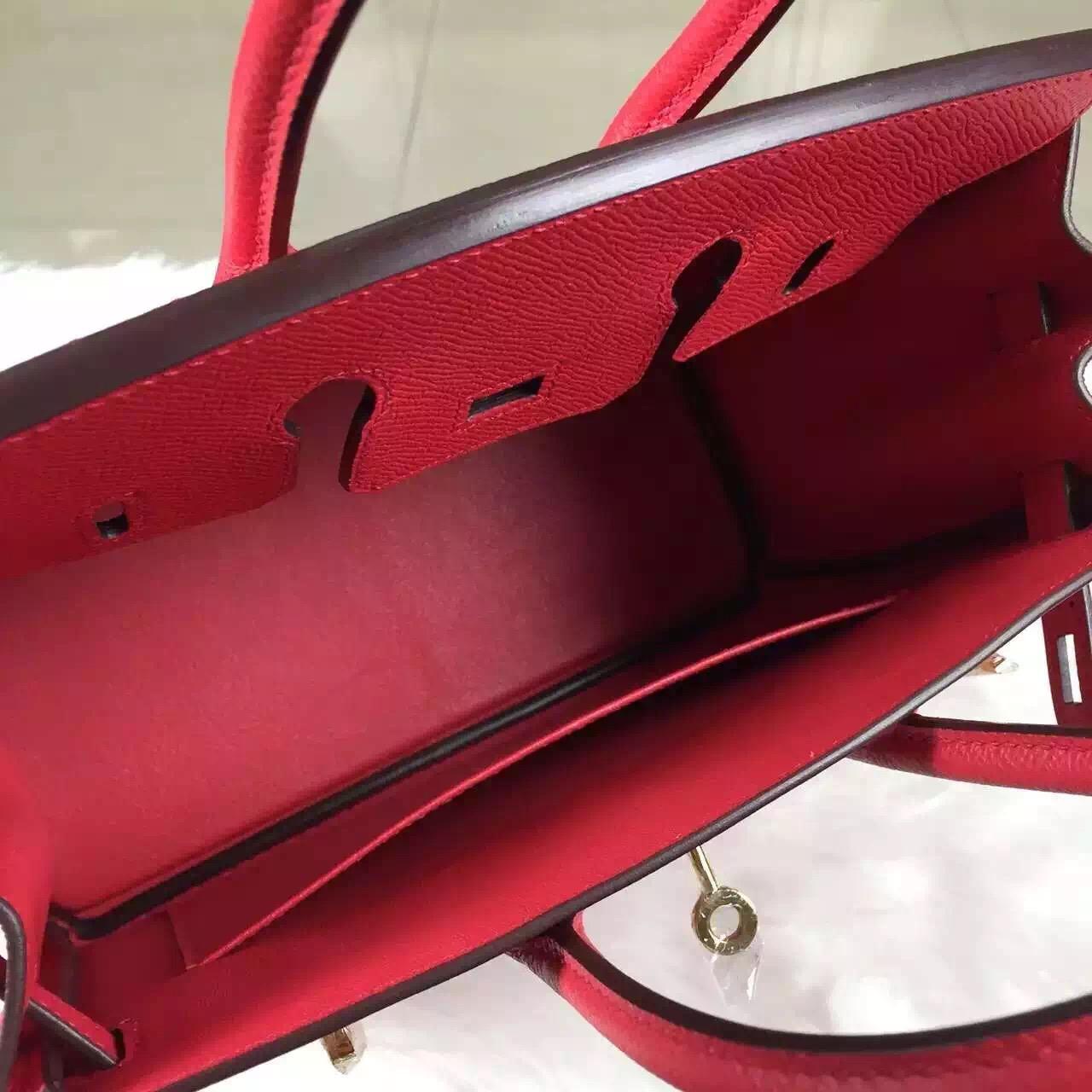 Customized Hermes Epsom Calfskin Birkin25 in 8V Orange Poppy