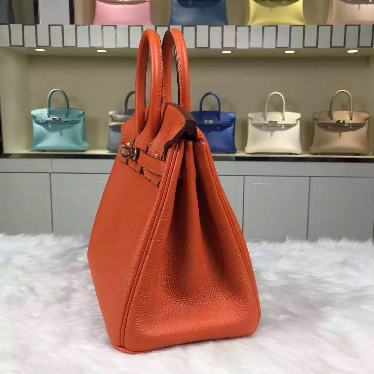 Sale Hermes Birkin Bag25CM Orange Togo Calfskin Women's Bag