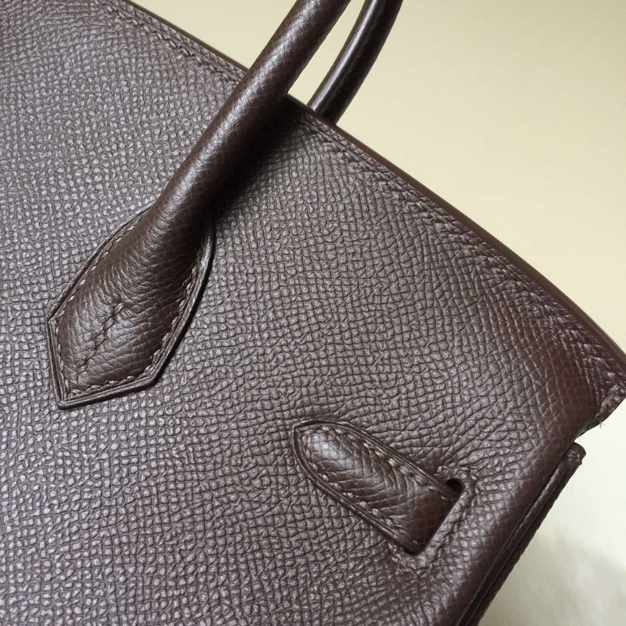 Hand Stitching Hermes Birkin25cm in Coffee Color Epsom Leather
