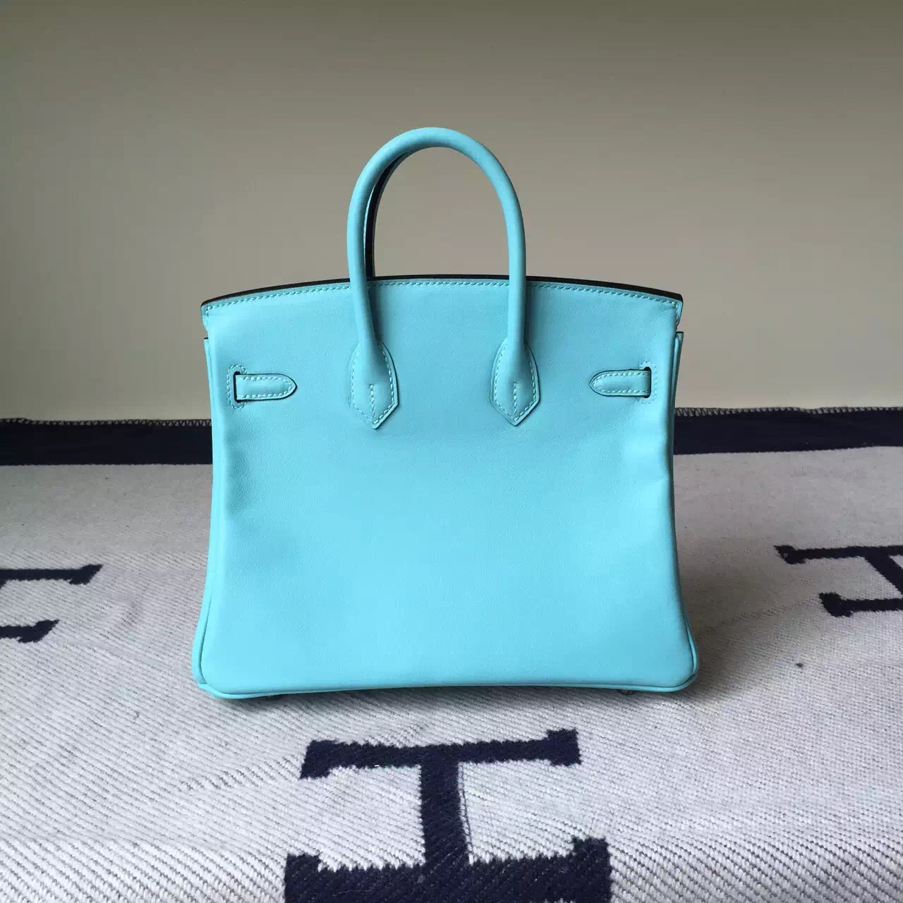 Wholesale Hermes Swift Leather Birkin25cm Bag in 3P Lagon Blue