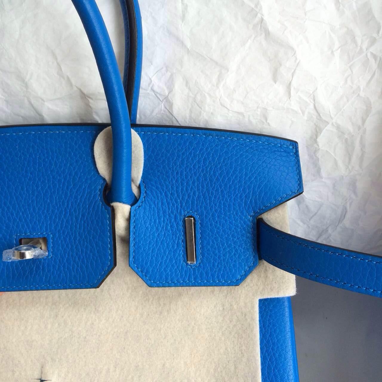 Wholesale Hermes Birkin Bag T7 Blue Hydra/E5 Rose Tyrien inner Togo leather