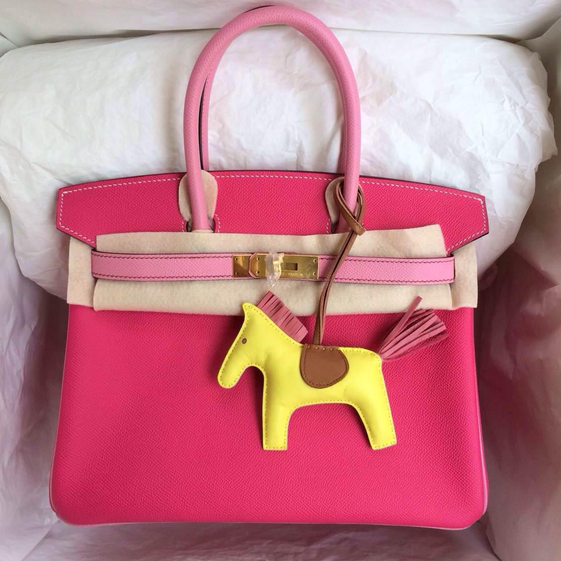 On Sale Hermes Birkin Bag E5 Rose Tyrien/5P Pink Epsom Leather Tote Bag