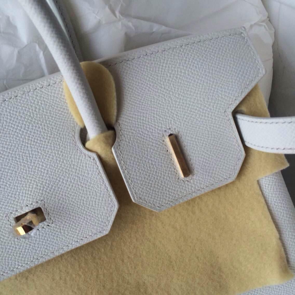 Discount Hermes Birkin Bag White/5P Pink France Epsom Leather Gold Hardware