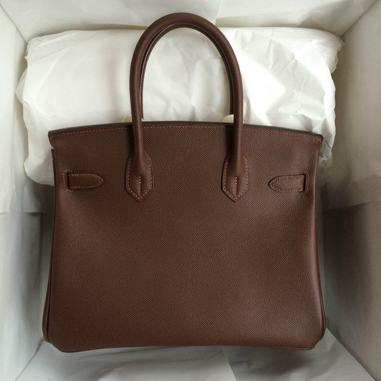 Wholesale Hermes Birkin Bag Coffee Color Epsom Calfskin Leather Women's Tote Bag