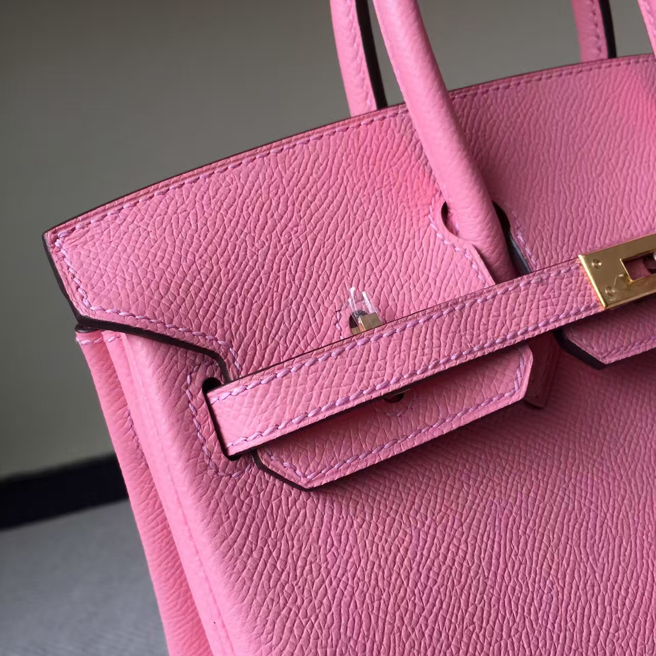 New Pretty Hermes 1Q Rose Confetti Epsom Leather Birkin Bag 25cm