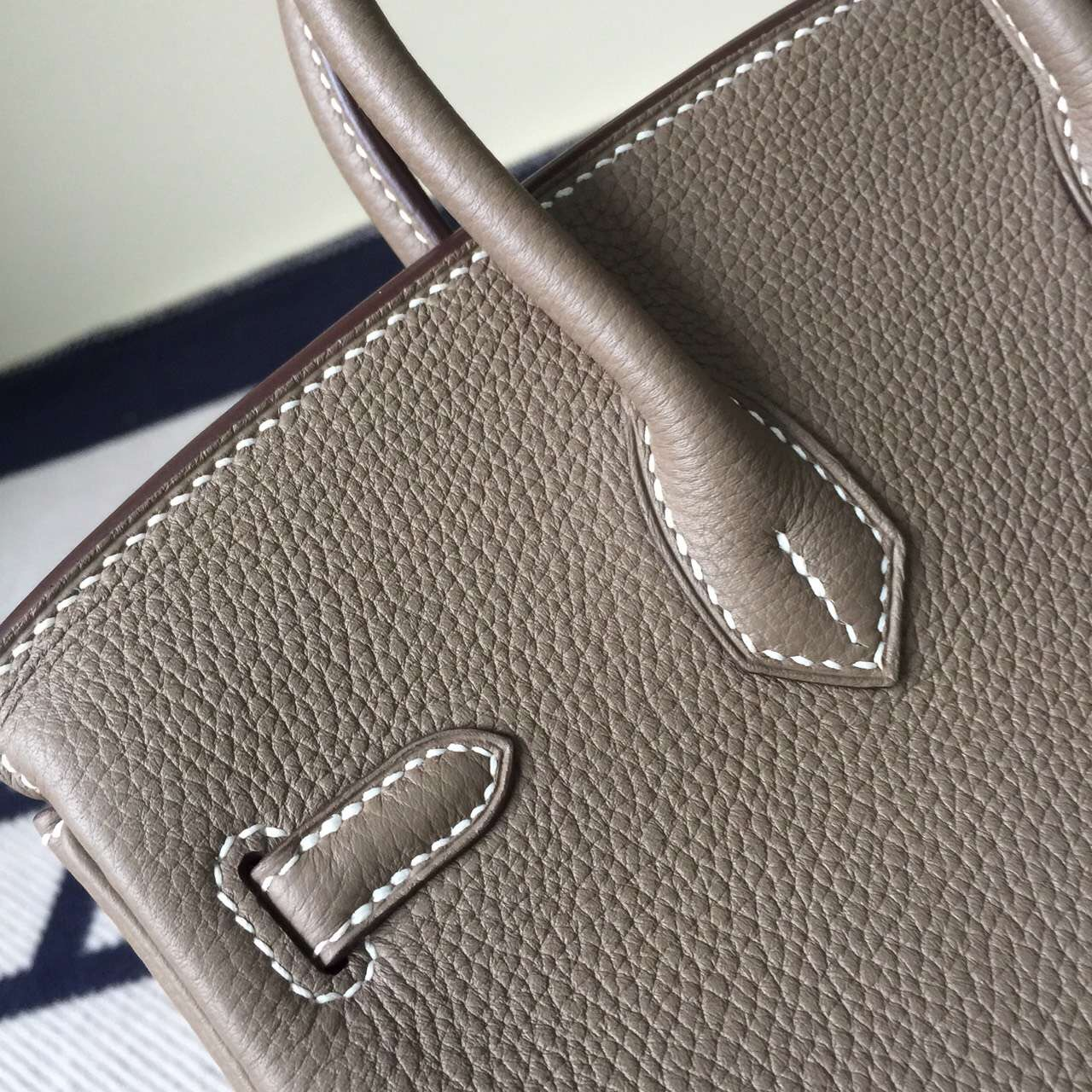 Wholesale Hermes C81 Etoupe Grey Togo Leather Birkin Bag 25cm