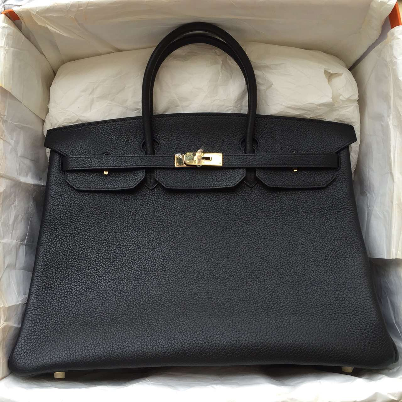 Hermes Birkin 40 Black Gold