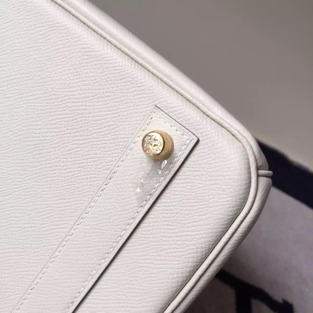 Hermes Birkin 40 Epsom White Gold Hardware