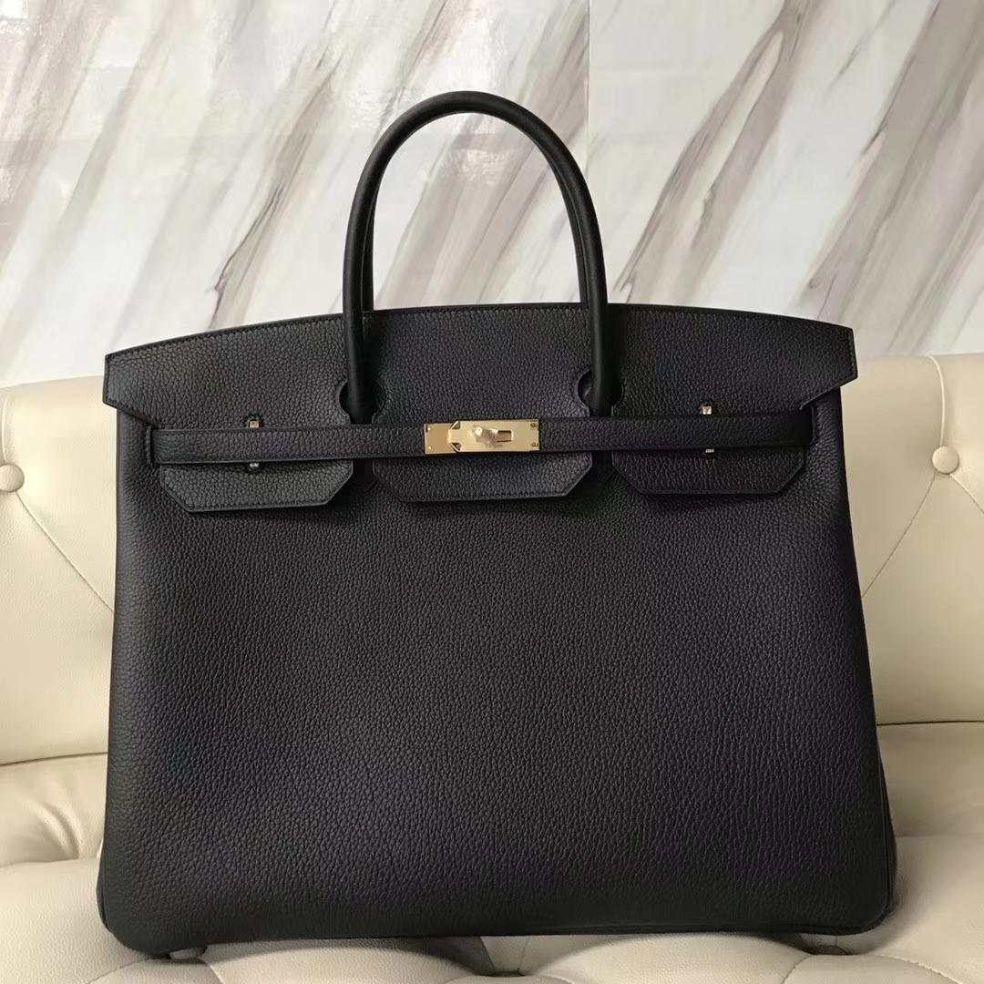 Hermes Birkin 40 Togo Black Palladium Hardware Handbag