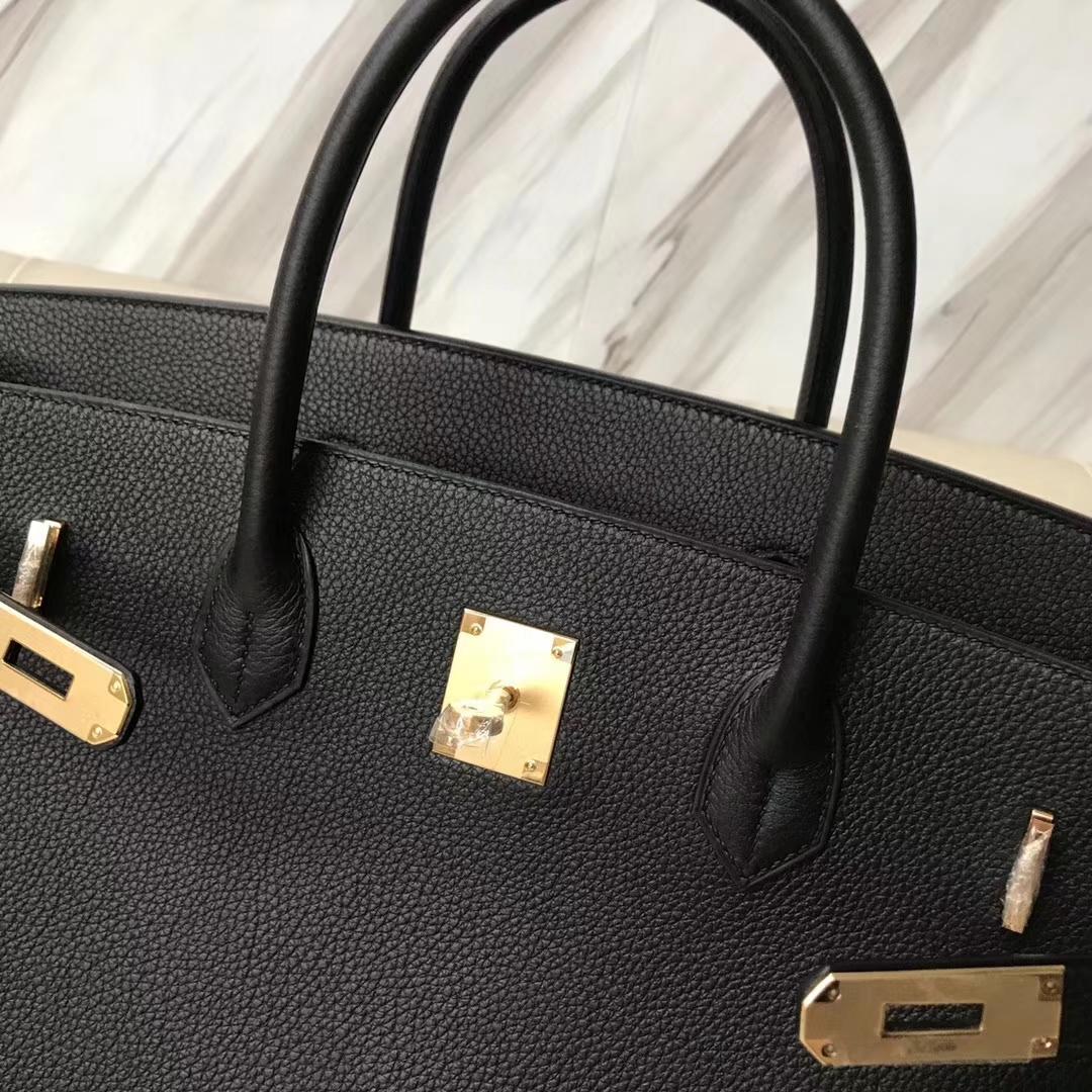 Hermes Birkin 40 Black Togo Palladium Hardware Handbag