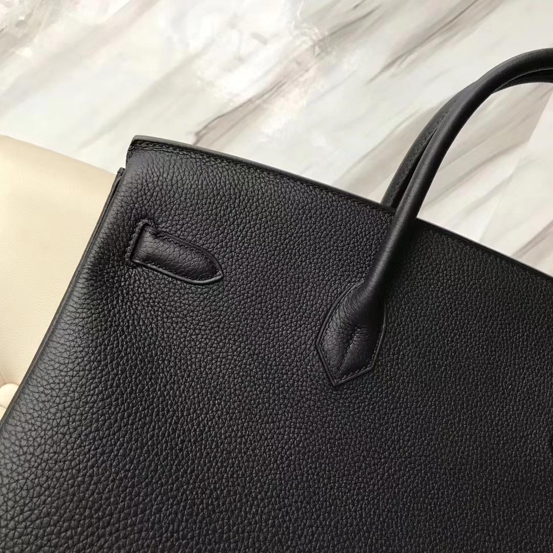 Hermes Birkin 40 Black Togo Palladium Hardware