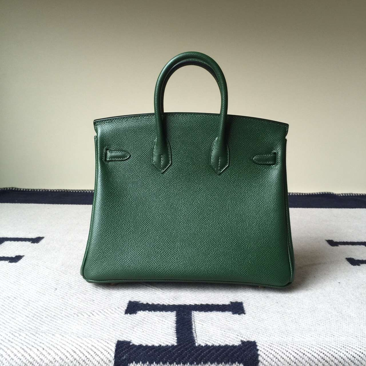Discount Hermes Birkin Bag 25cm in 2Q English Green Epsom Calf Leather