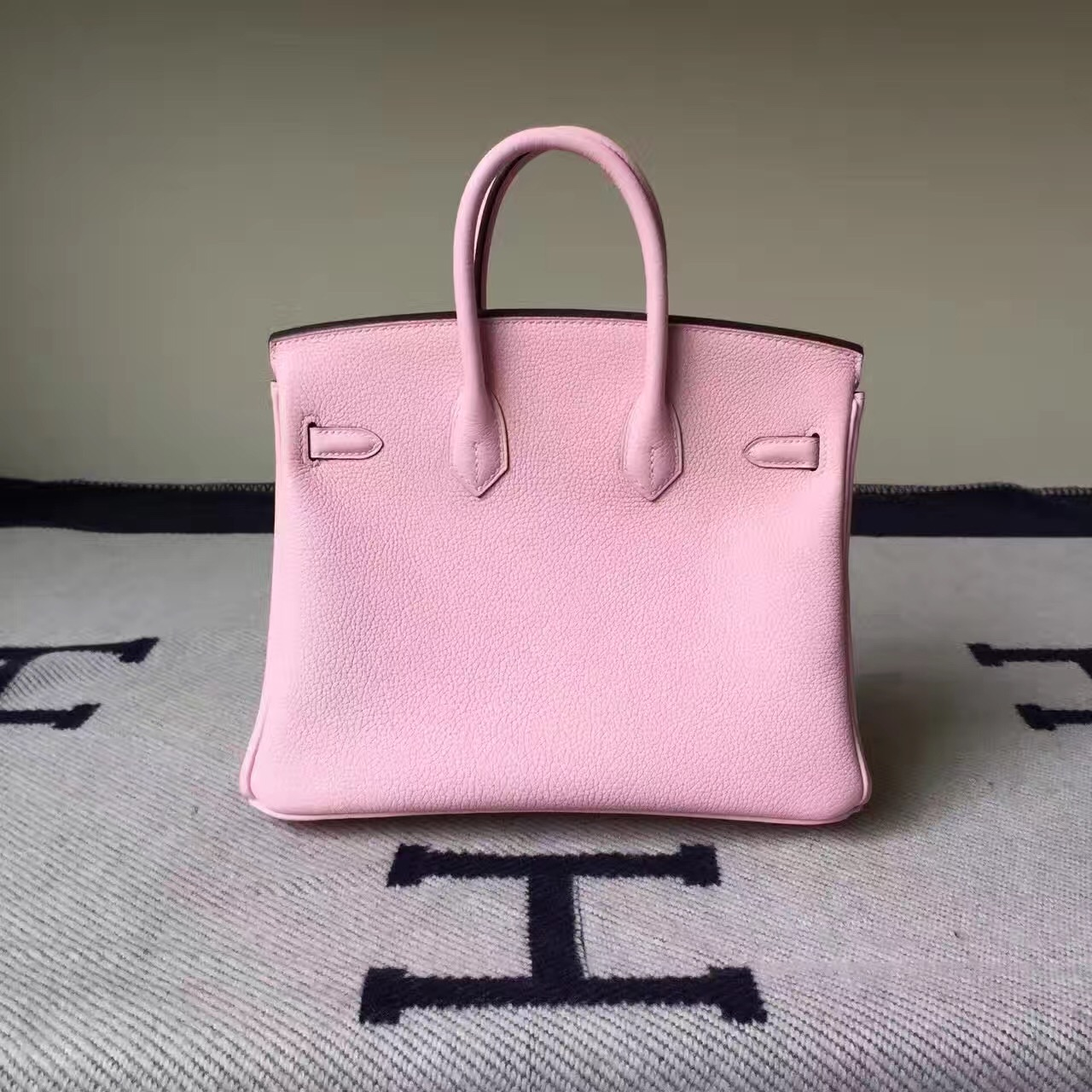 Sale Hermes 3Q Rose Sakura Togo Calfskin Leather Birkin Bag 25cm