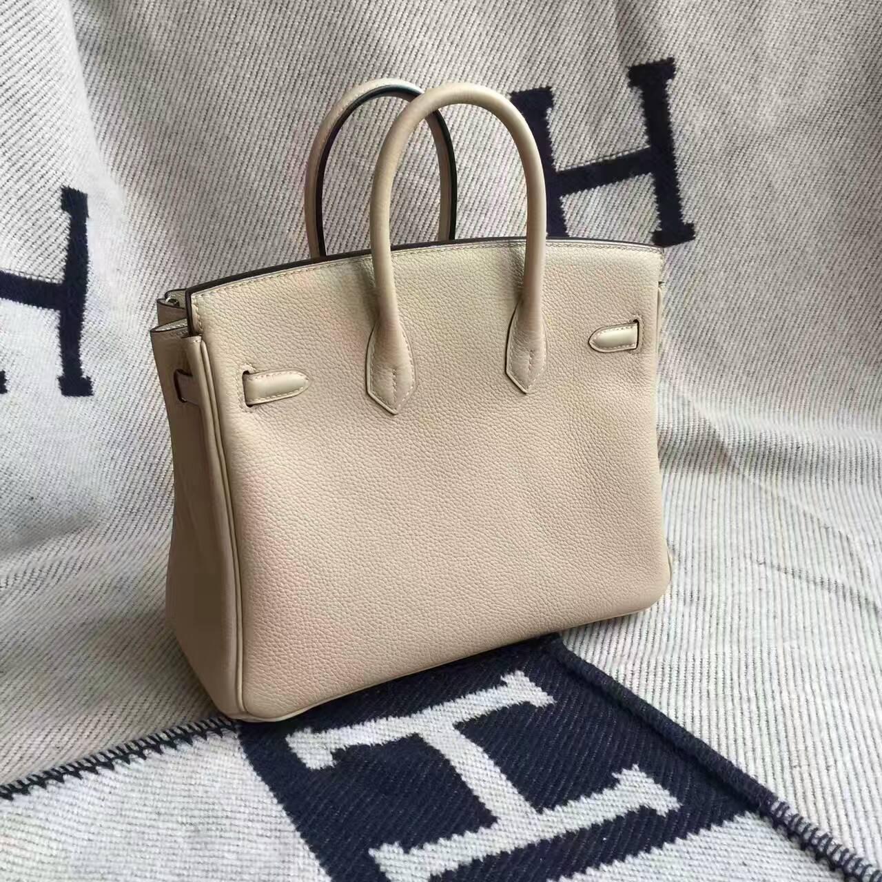 Wholesale Hermes Togo Calskin Leather Birkin25cm Handbag in S2 Coat Grey