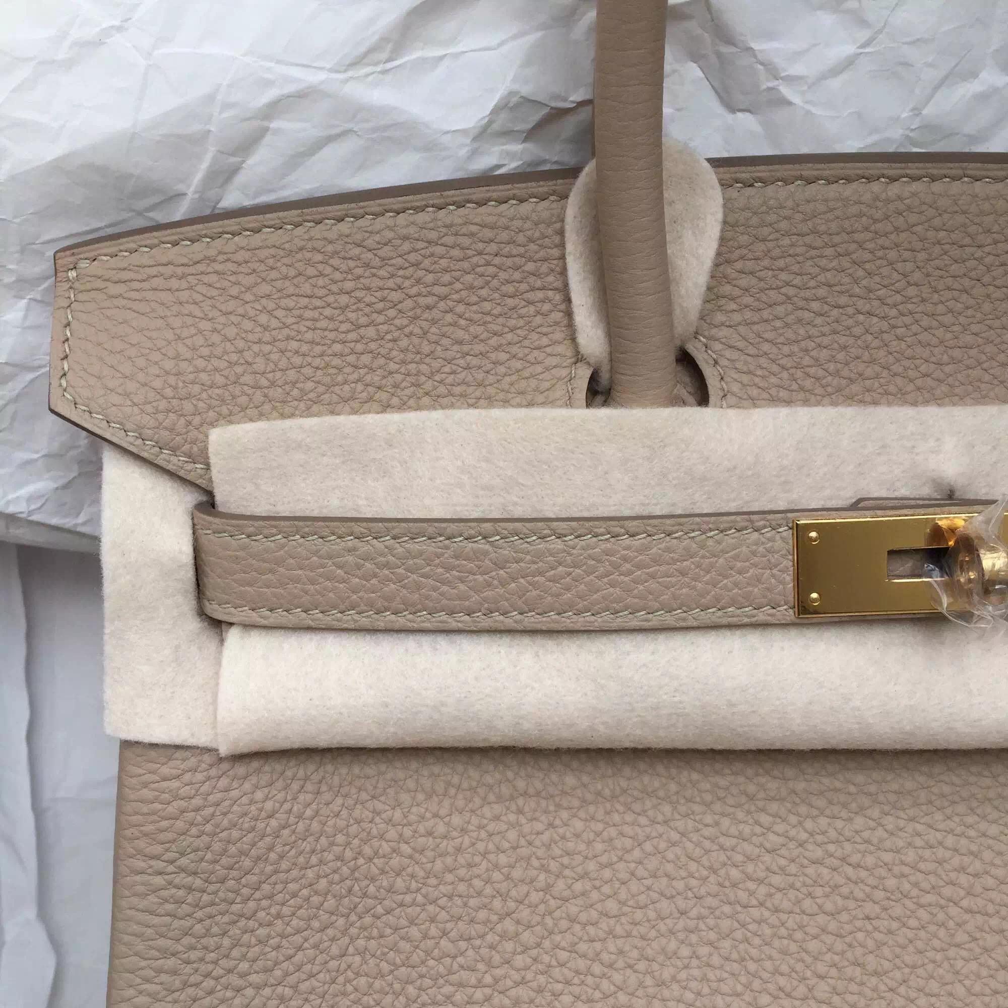 Discount Hermes Birkin 30 Diamond Grey Togo Leather Gold Hardware