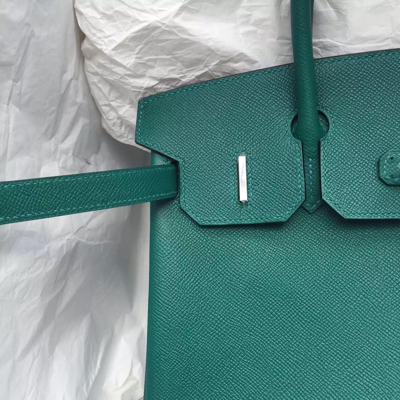 Wholesale Hermes Z6 Malachite Color Epsom Leather Birkin Bag 30CM Women's Tote Bag