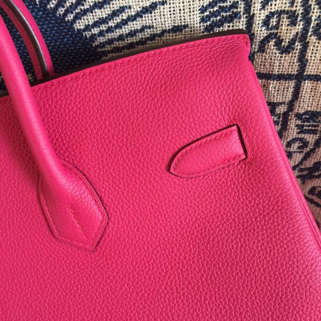 Discount Hermes Birkin30CM 5J Hot Pink Togo Calfskin Leather Women's Tote Bag