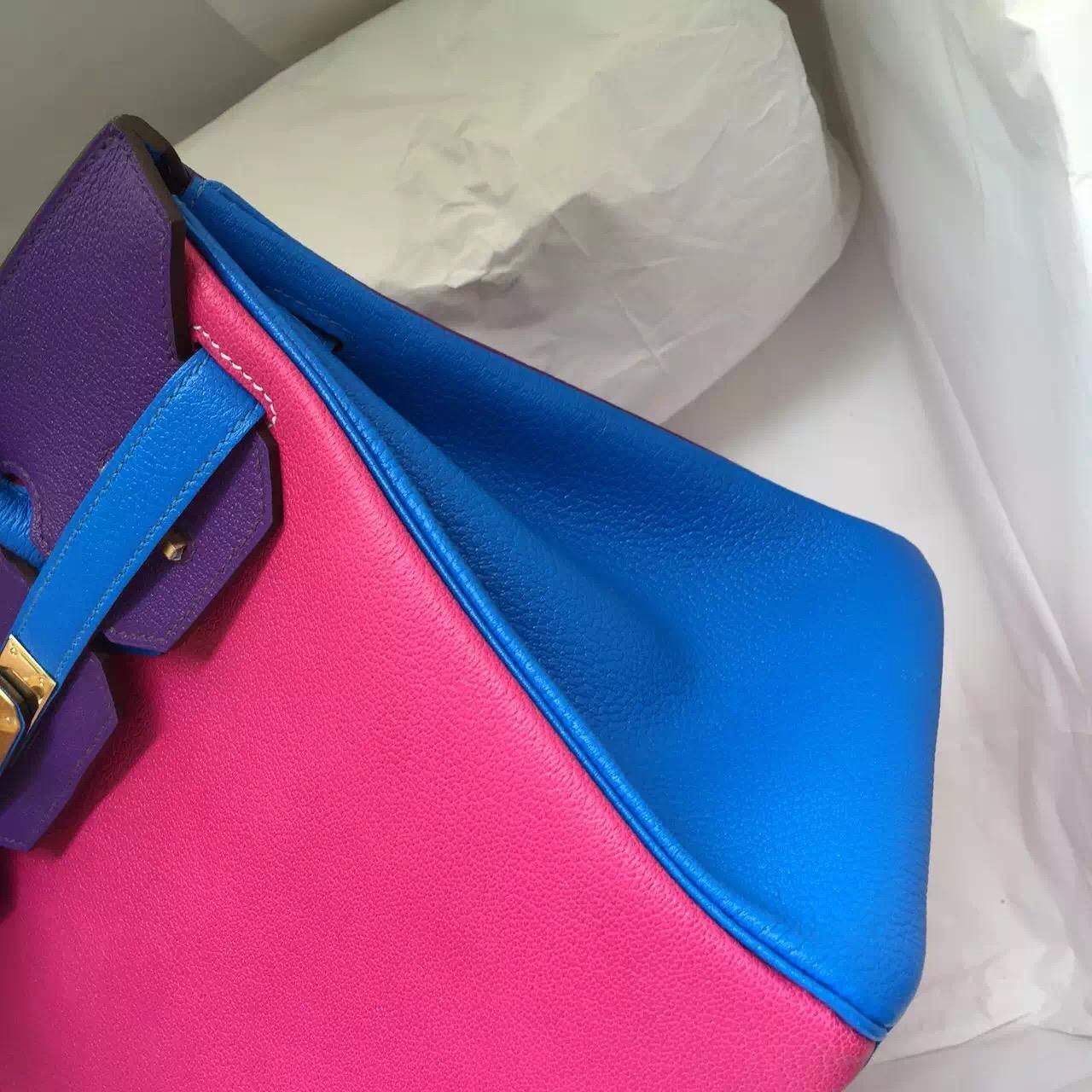 Wholesale Hermes Three Colors Chevre Leather Birkin Bag 30CM Luxury Women's Handbag