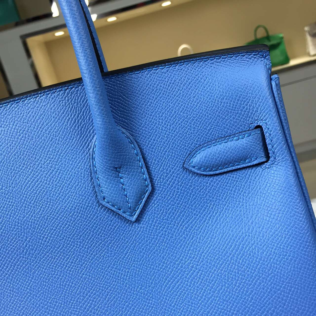 Luxury Bag Hermes Birkin 30CM 2T Blue Paradise Epsom Leather Women's Tote Bag
