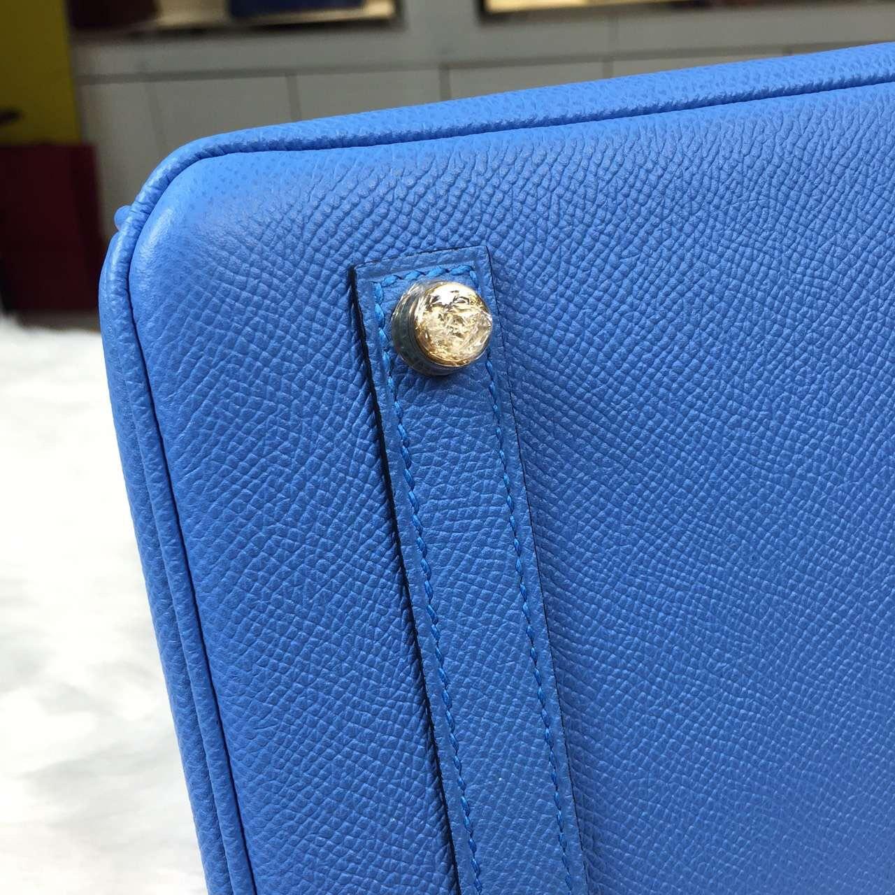 Luxury Bag Hermes Birkin 30CM 2T Blue Paradise Epsom Leather Women's Tote Bag