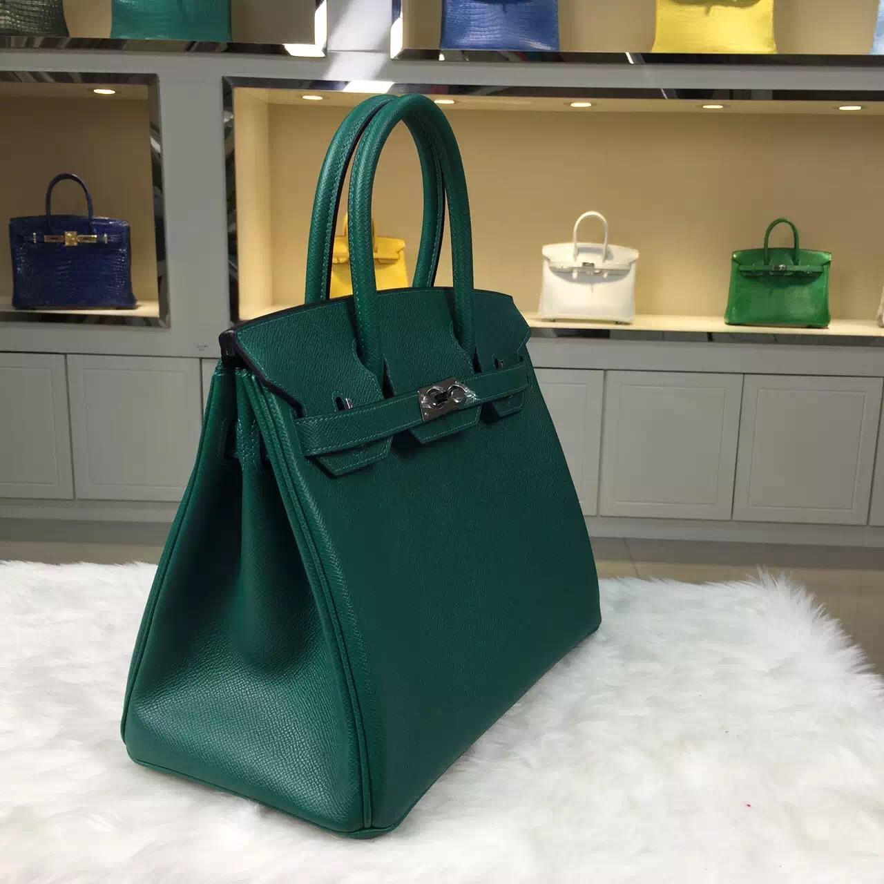 Hermes Z6 Malachite Green Epsom leather Personal Tailor Birkin Bag 30CM