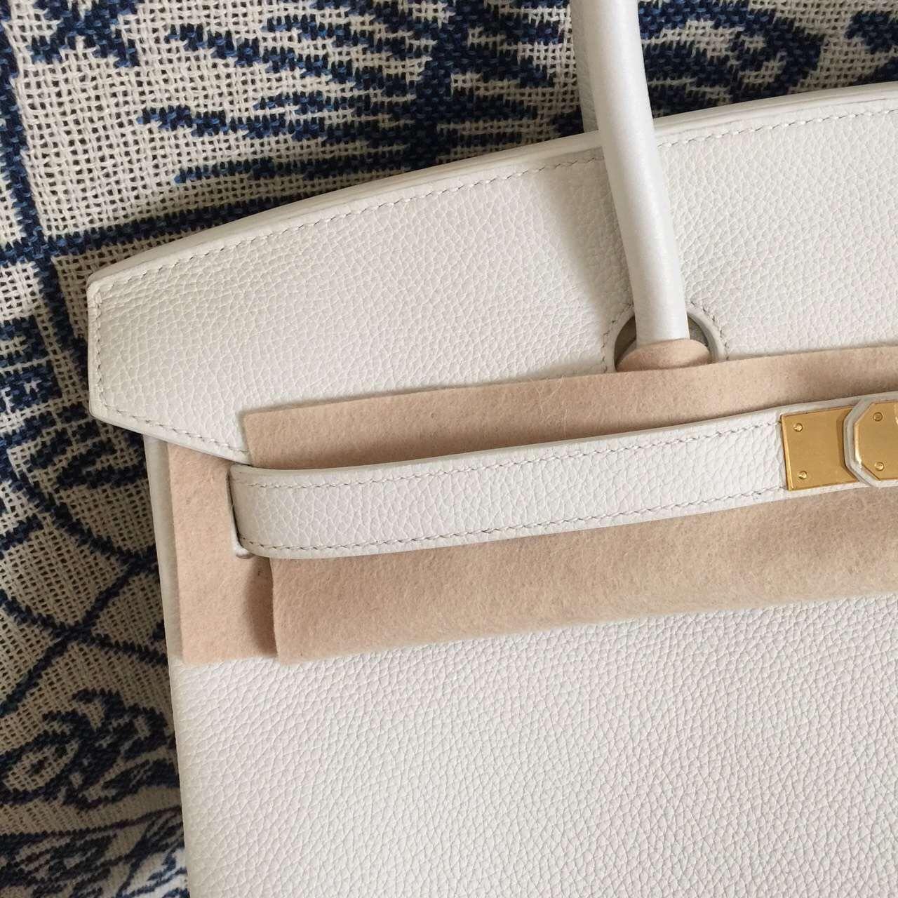 New Fashion Hermes White Togo Leather Birkin Bag 35CM Gold Hardware
