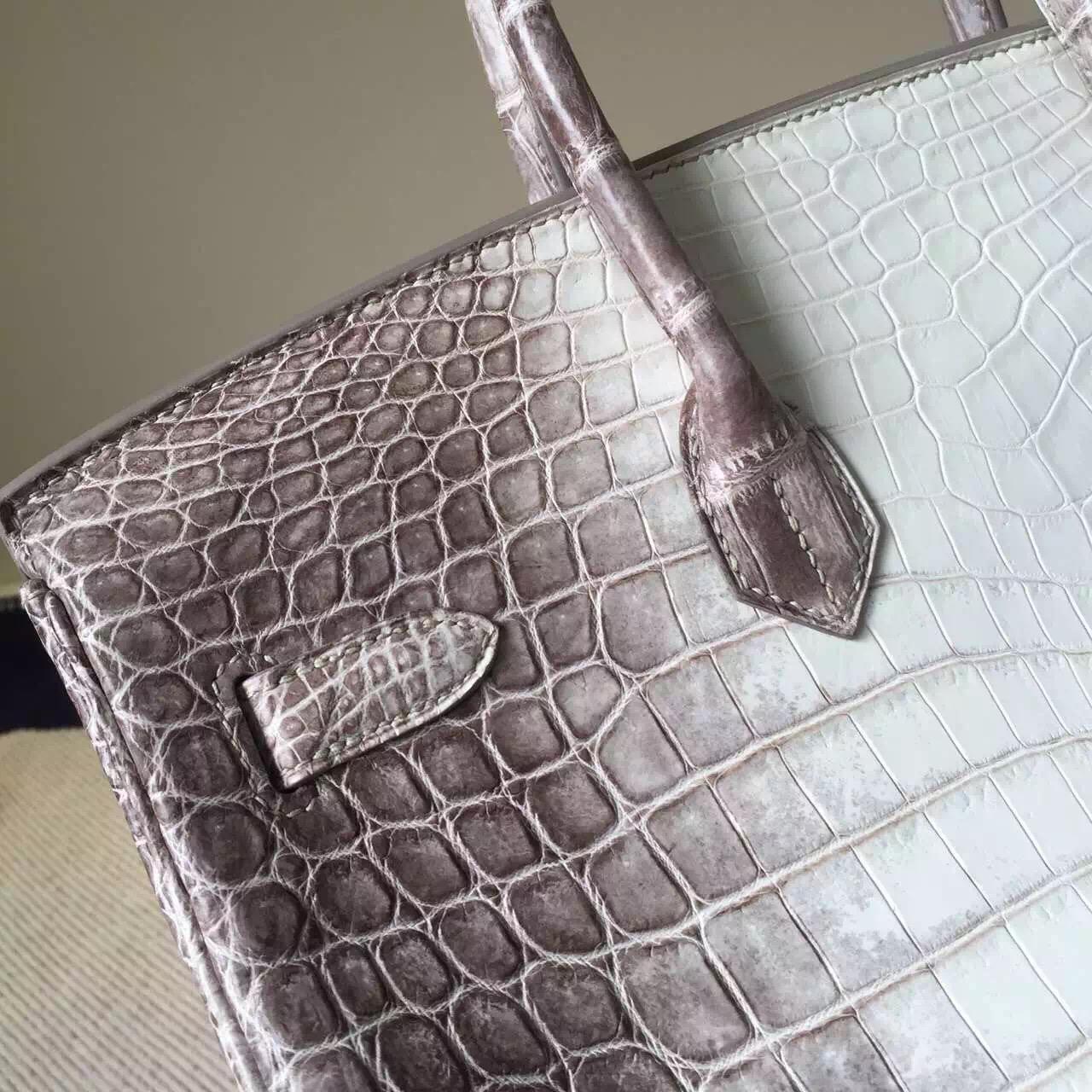 Wholesale Hermes Himalaya Color Crocodile Leather Birkin Bag 35cm
