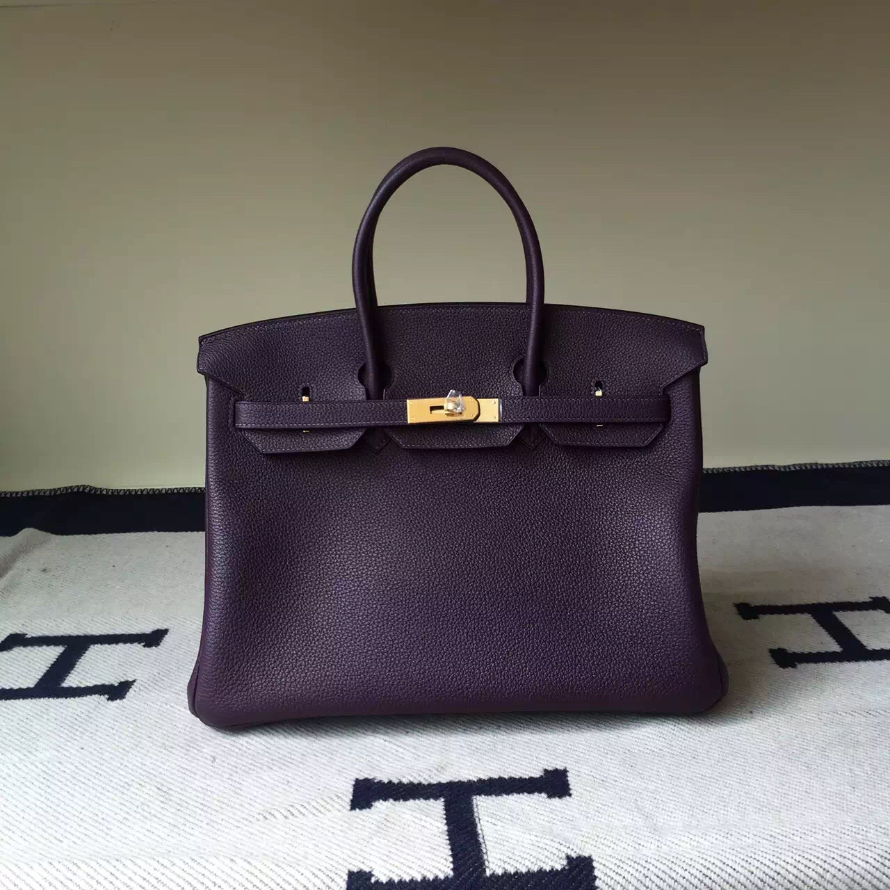 Wholesale Hermes African Purple Togo Calfskin Leather Birkin35cm