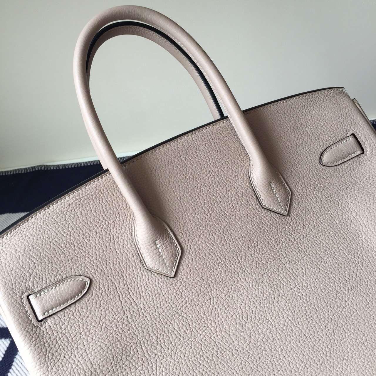 Noble Hermes Bag Gris Tourterelle Togo Leather Birkin Bag 35cm