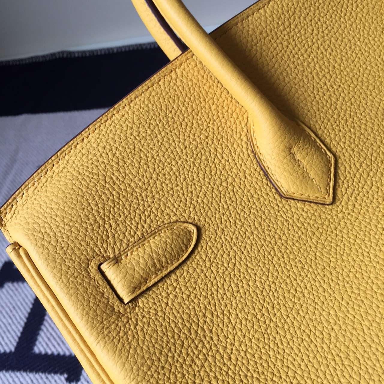 Discount Hermes Togo Calfskin Birkin35cm Bag in Fennel Yellow