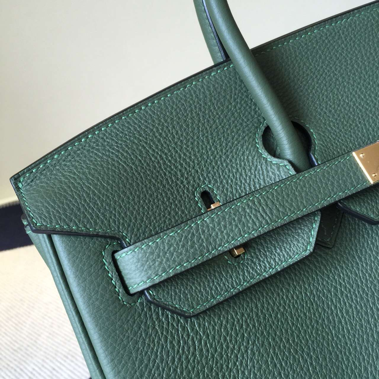 Wholesale Hermes Jungle Green Togo Leather Birkin35cm Tote Bag