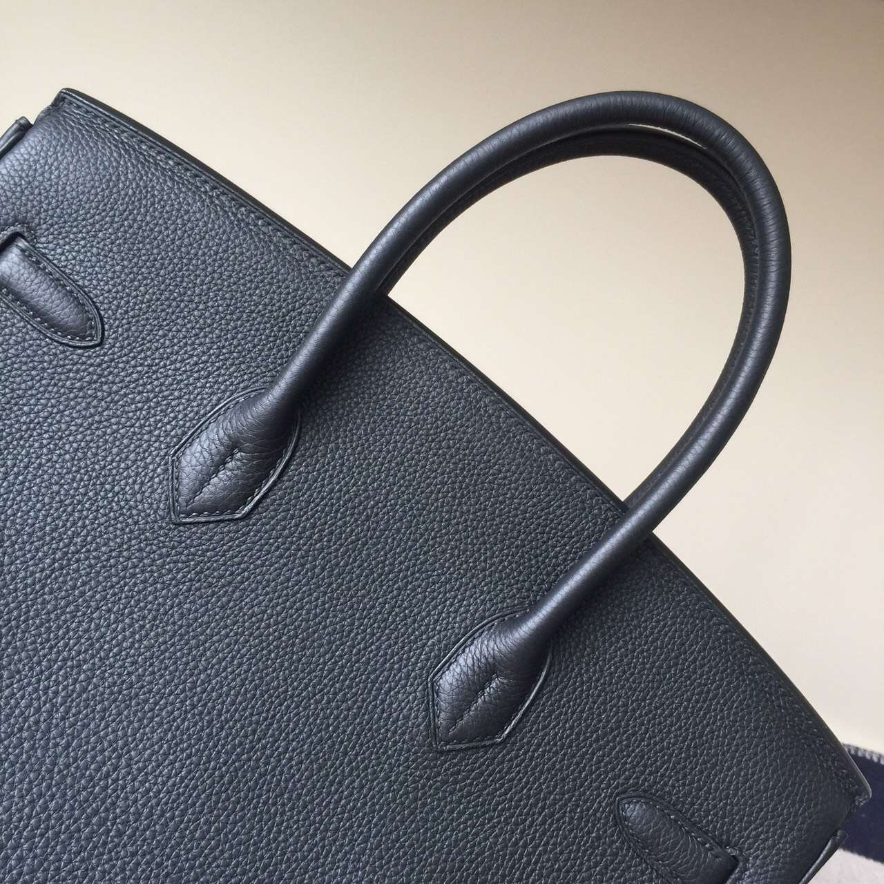 Hermes Classic Bag CK89 Black Togo Leather Birkin Bag 35cm