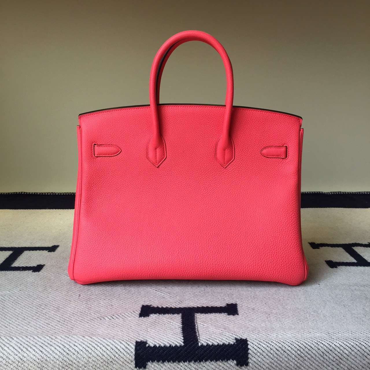 Hot Sale Hermes Togo Leather Birkin 30/35cm in T5 Peach Pink