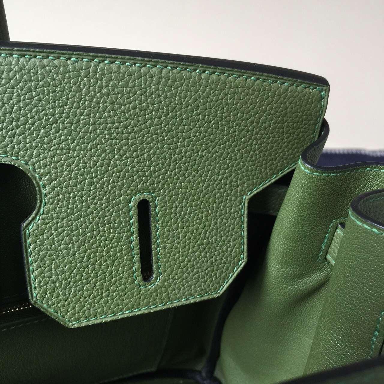 Cheap Hermes V6 Canopee Green Togo Calf Leather Birkin Bag 35cm