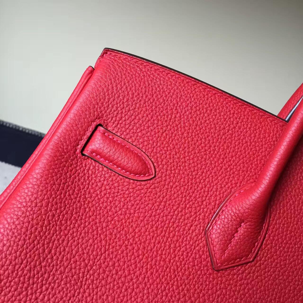 On Sale Hermes Q5 Rouge Casaque Togo Calf  Leather Birkin Bag 35cm