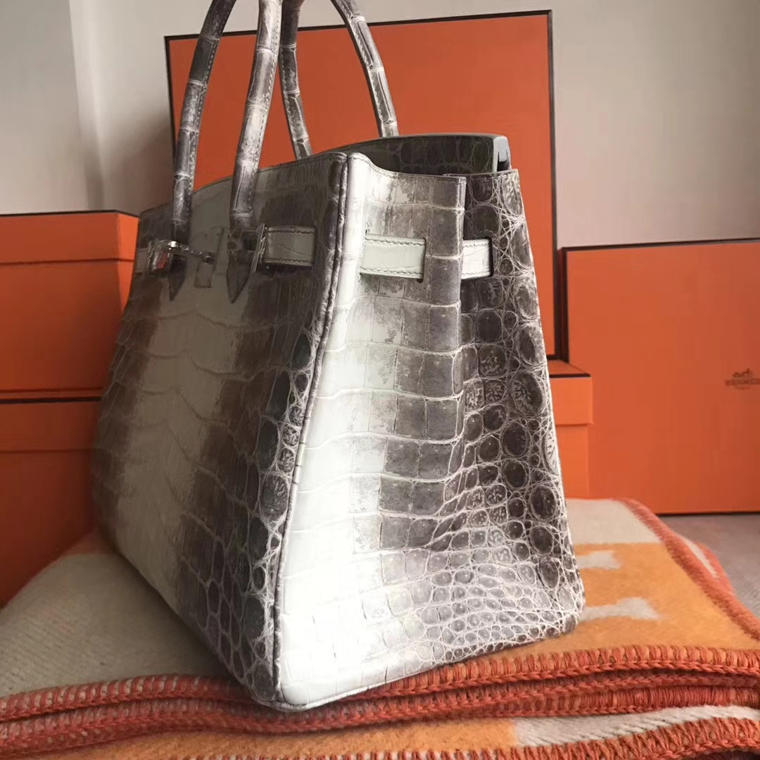 Noble Hermes Himalaya Matt Crocodile Birkin35CM Bag Silver Hardware