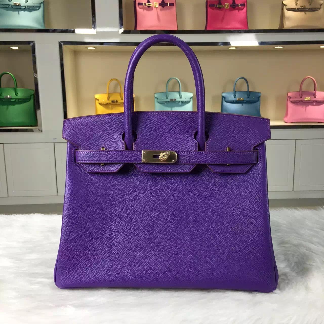 Wholesale Hermes Birkin 30CM Multi-color Original Epsom Leather Ladies' Tote Bag