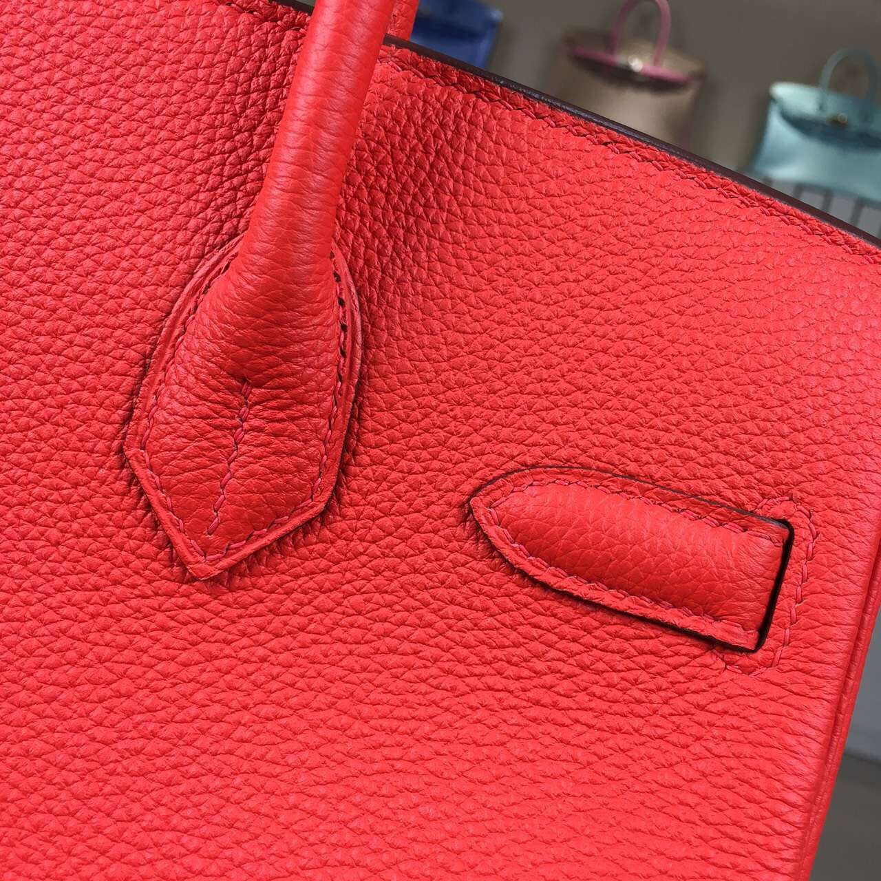 Wholesale Hermes Flame Orange France Imported Togo Leather Birkin Bag30cm