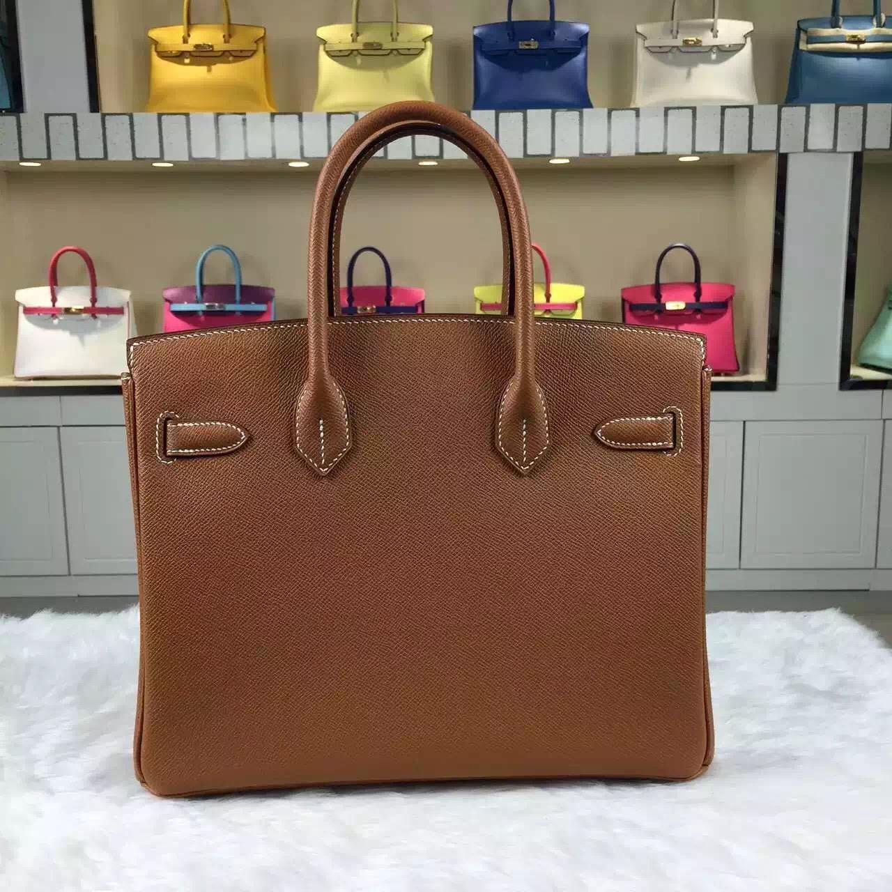 On Sale Hermes CK37 Gold Epsom Leather Birkin Bag30CM Gold Hardware